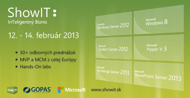 [Súťaž] 2 voľné vstupenky v cene 180 Euro na 3-dňovú technickú konferenciu ShowIT 2013 1