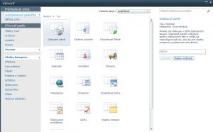 SharePoint - stavebné prvky/objekty 2